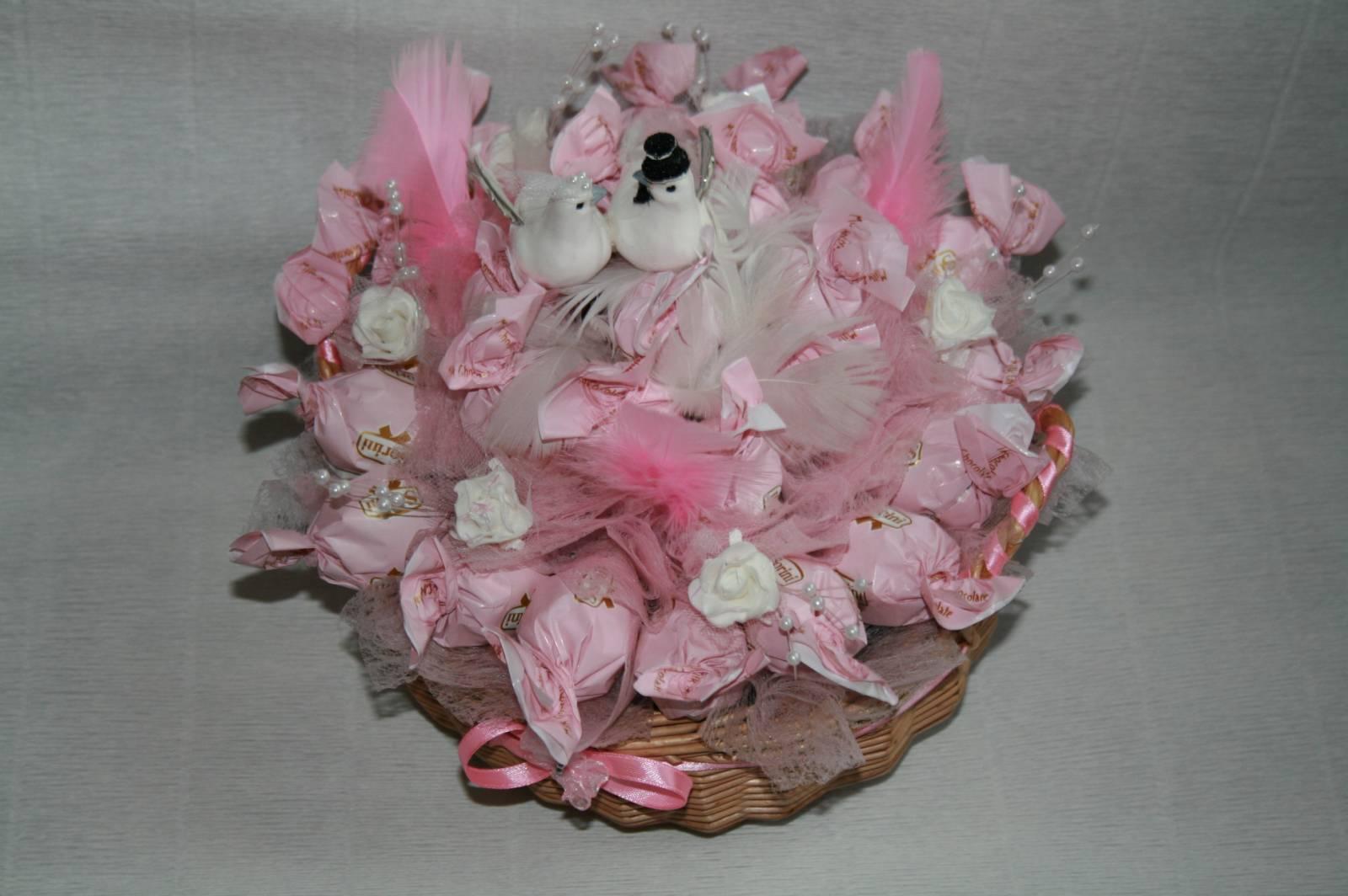 Корзины на свадьбу из конфет своими руками фото