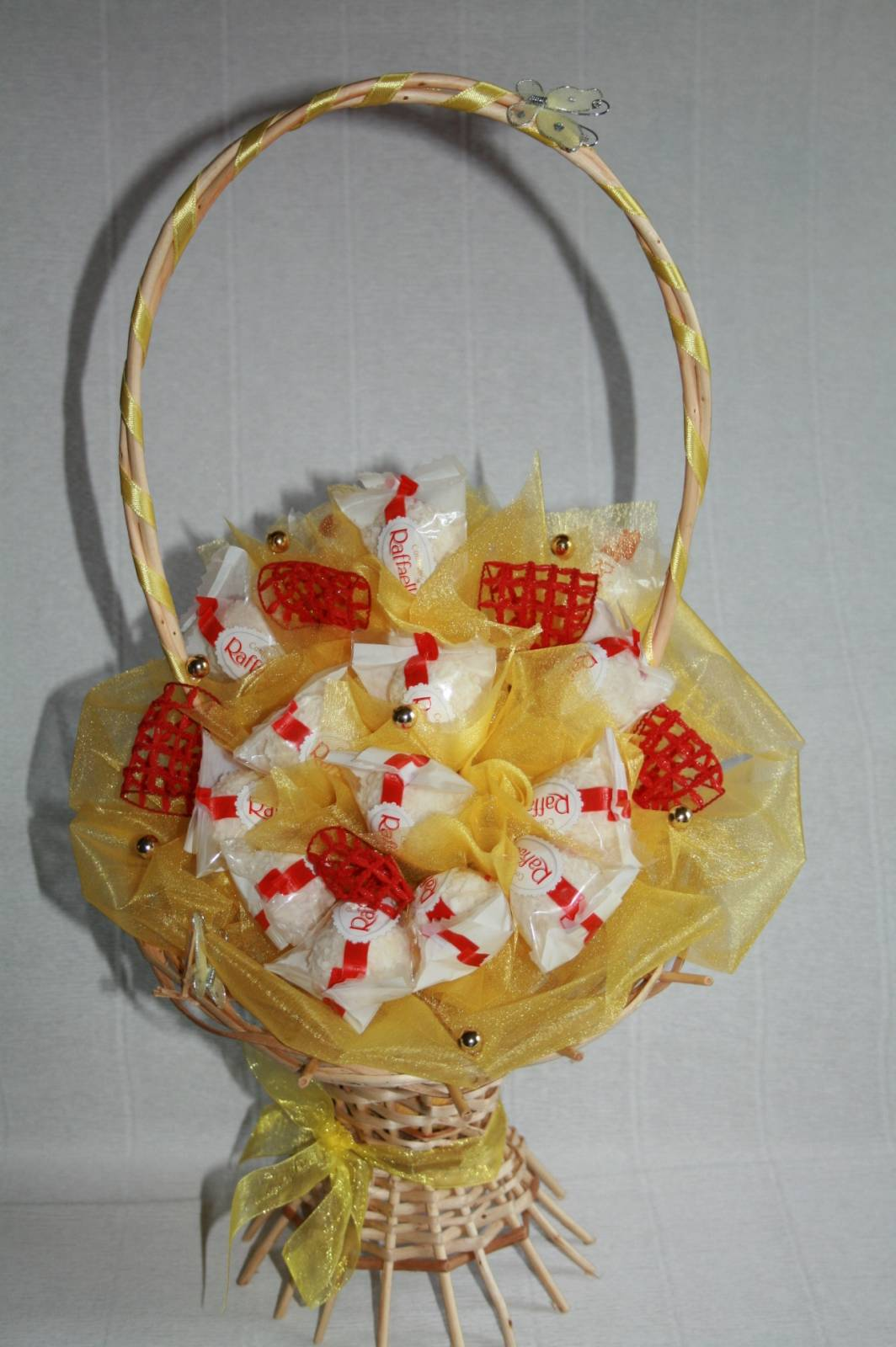 Как сделать корзину с конфетами своими 713